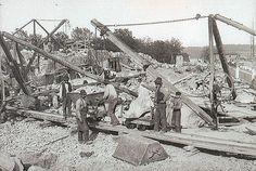 Bygget av Värtaverket i Stockholm 1901-1903. The #construction of Värtaverket, currently a #CHP plant in Stockholm, between 1901-1903.