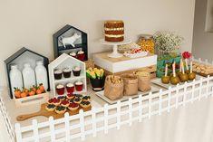 Farm Birthday Party Food Table - adorable!