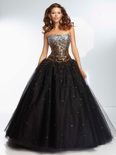Is it a Barbie gown?  Could be, but here it's just a great metallic and tulle look.
