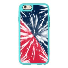 Modern 4th july red blue color block fireworks by Girly Trend - iPhone... ($40) ❤ liked on Polyvore featuring accessories, tech accessories, iphone case, apple iphone cases, blue iphone case, red iphone case, iphone hard case and iphone cases