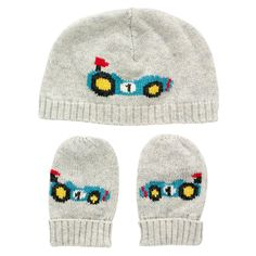 Car Knitted Hat & Mittens | Cath Kidston |