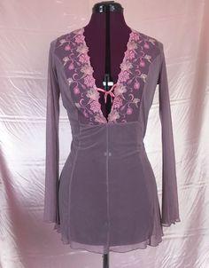 Fredricks of Hollywood Sheer Deep V-Neck Mesh Tunic Shirt Bell sleeve Shirt | Clothing, Shoes & Accessories, Women's Clothing, Tops & Blouses | eBay!