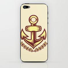 Anchor badge iPhone & iPod Skin by Sharp B.A. - $15.00