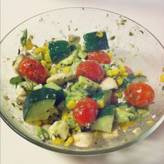 gluten free avocado cucumber salad. Image