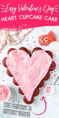 Easy Cupcake Cake for Valentine