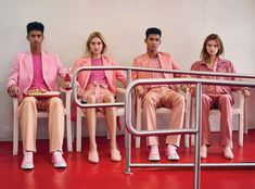 Models Jan Carlos Diaz & Hector Diaz and Baylee Soles & Kelsey Soles are styled in 'Pink Perfection' tailored casual looks by Julian Ganio. Photographer Bruno Staub captures the sibling acts for WSJ Magazine February 2017.http://www.anneofcarversville.com/style-photos/2017/1/29/bruno-staub-snaps-sweet-siblings-in-pink-perfection-for-wsj-magazine-february-2017