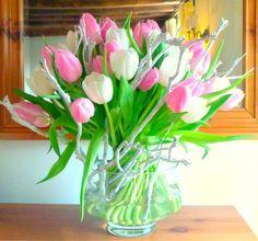 Spring tulip tied arrangement