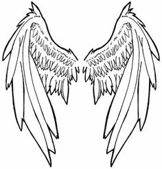 out the stencil in whatever size you like angel wings tattoo stencil ...