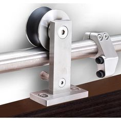 Transform doorways into a functional and minimalist space with this CALHOME Top Mount Stainless Steel Barn Style Sliding Door Track and Hardware Set. Barn Style Sliding Doors, Sliding Door Track, Barn Door Track, Sliding Barn Door Hardware, Front Doors, Garage Doors, Panel Doors, Entry Doors, Rustic Hardware