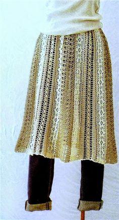 Patrones de pollera crochet