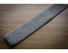 Turnbull & Asser Pure Cashmere Handmade Light Grey Knit Tie - Malford of London