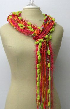 Knit Not!! I can do this.  Fruity Fashion braids Gypsy Fringe Scarf by PurpleSageDesignz, $ 17.00