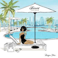 Just arrived in Dubai! I'm staying at the very chic Fairmont The Palm it's 30 degrees and all I can see is turquoise waters and a see of white umbrellas... heaven.