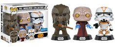 Pop! Star Wars - Revenge of the Sith [Tarfful, Unhooded Emperor & Utapau Clone Trooper]