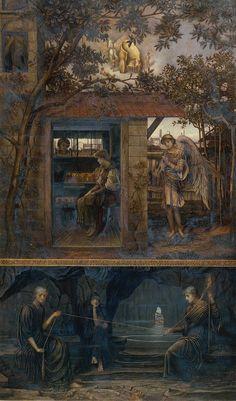 The Athenaeum - A Golden Thread (John Melhuish Strudwick)