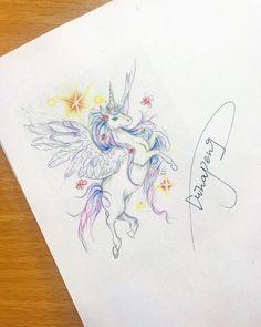 Unicorn Illustration, Unicorn Tattoos, Future Tattoos, Mystic, Instagram Posts