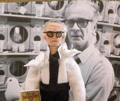 B F Skinner Doll Miniature Scientific Art by UneekDollDesigns