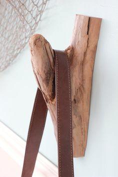 Driftwood Wall Hook, Natural Driftwood Branch Hook, Driftwood Jewelry Hook, Coat Hook, Branch Hook, Rustic Tack Hook, (G)
