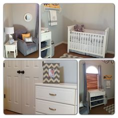 Baby boy chevron room