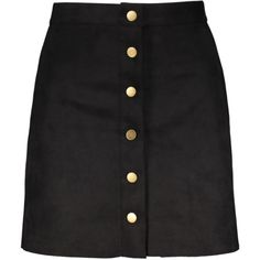 Faux Suede A-Line Skirt Black (58 BRL) ❤ liked on Polyvore featuring skirts, knee length a line skirt, faux suede a line skirt, faux suede skirt and a line skirt