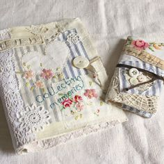 Fabric journal and notebook collecting memories1 by roxycreations
