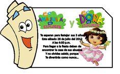 Invitaciónes de Dora la exploradora para editar - Imagui