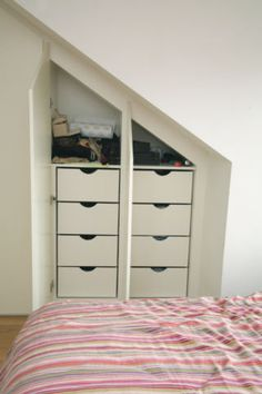 Loft Storage Make a small inset closet in a small space