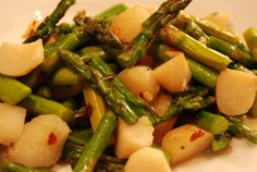 Spicy Asparagus with Water Chestnuts