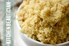 Brown sugar face scrub: half a cup of brown sugar, three tablespoons of olive oil, a few drops of water.