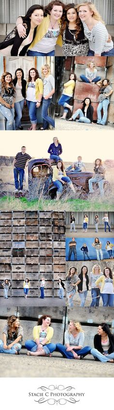 Senior Friends photo shoot from the very last one is my favorite! byStacie C. Photography: seniors