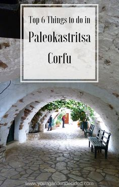Paleokastritsa Corfu is a beautiful town with amazing scenery and delicious food. Here are my top 6 things to do and see in Paleokastritsa, Corfu Greece Cruise, Greece Travel, Greece Vacation, Europe Travel Tips, Asia Travel, Travel Destinations, Skiathos, Greek Islands To Visit, Greece