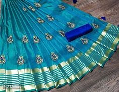 Latest Attractive Art Silk Saree with Blouse piece