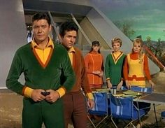 Lost In Space  -  Guy Williams (Dr. John Robinson)...Mark Goddard (Maj. Don West)...Angela Cartwright (Penny Robinson)...June Lockhart (Dr. Maureen Robinson)...Marta Kristen (Judy Robinson)  - not pictured...Billy Mummy (Will Robinson)...Robot B-9 (Bob May)