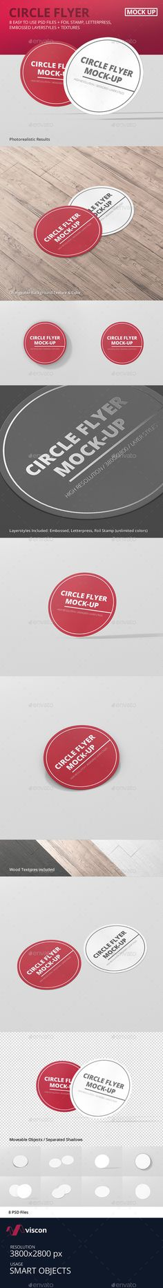 Circle Flyer Mockup #graphicdesign #stationary #branding #identity #flyer #design