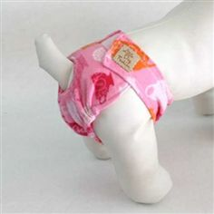 Pink Teacup Flannel Darling Diaper for Female Dogs. Omg, so cute with room for tail. http://www.littledogfashion.com/Pink-Teacup-Flannel-Darling-Diaper-for-Female-Dogs-p/diaper-girl-teacup.htm
