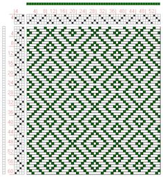 Hand Weaving Draft: Page 132, Figure 10, Donat, Franz Large Book of Textile Patterns, 4S, 4T - Handweaving.net Hand Weaving and Draft Archiv...