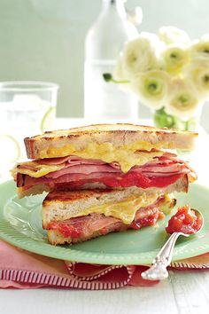 Our Favorite Strawberry Recipes: Grilled Ham-and-Cheese Sandwiches with Strawberry-Shallot Jam