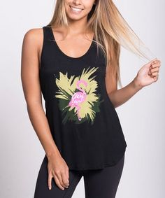 Black Flamingo Tank - Women #zulily #zulilyfinds