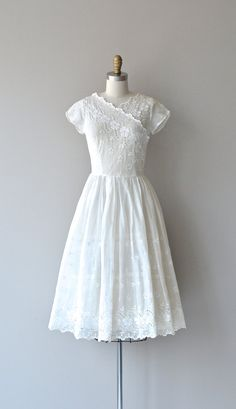 Quadrille dress vintage 1940s dress white 40s by DearGolden
