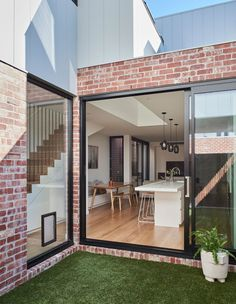Local Australian Architecture And Interior Design Albert Park Terrace Designed By Dan Webster Architecture 1 - The Local Project Red Brick Exteriors, Brick Facade, House Cladding, Facade House, Exterior Cladding, Exterior Signage, Stucco Exterior, House Facades, Exterior Paint