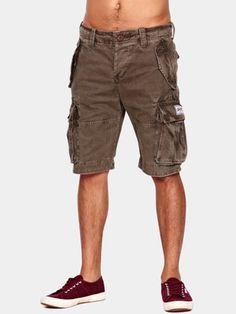 Cargo Mens Belted Shorts