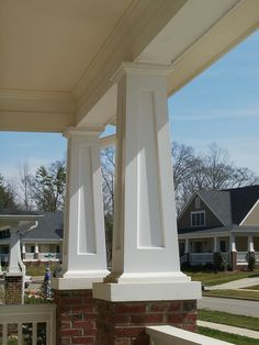 Our Elegant Square Tapered Porch Columns Are True To The Craftsman Style Custom Pvc Column Wraps Built Any Size Guaranteed For