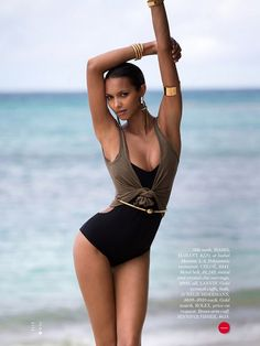 'Shoring Thing' Lais Ribeiro by David Bellemere for Elle US June 2014