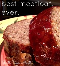 The topping on this meatloaf was amazing, sweet, and tangy.  I was looking for something tasty, but had a nice texture, not a whole lot of veg.  My son is afraid of veg (joke).  I enjoyed having a recipe b/c it seems like every time I make meatloaf it's a tab bit different.  7/28/13
