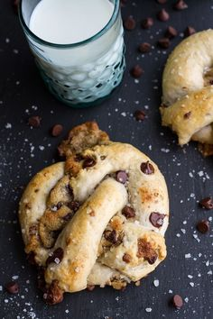 chocolate chip cookie stuffed soft pretzel