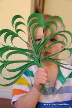 Four Leaf Clover Paper Craft www.247moms.com #247moms