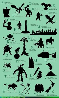 Lord of the Rings ABCs by ~Lilliandil This is so going in my children's bedroom. Some day.