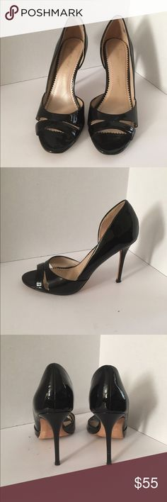 Jean-michel Cazabat patent leather pumps Ultra fem black patent leather heels. Small nic in right heel, other than that the shoes are in great used condition. 4 inch heel height. Size 8 (38) reasonable offers accepted. Jean-Michel Cazabat Shoes Heels