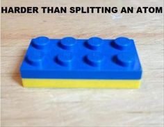 LoL! So true! ~ We used to have a special Lego tool for separating them, but it's lost, and it's too bad!