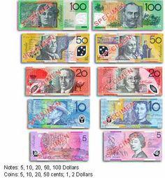 Currency in Sydney, Australia..